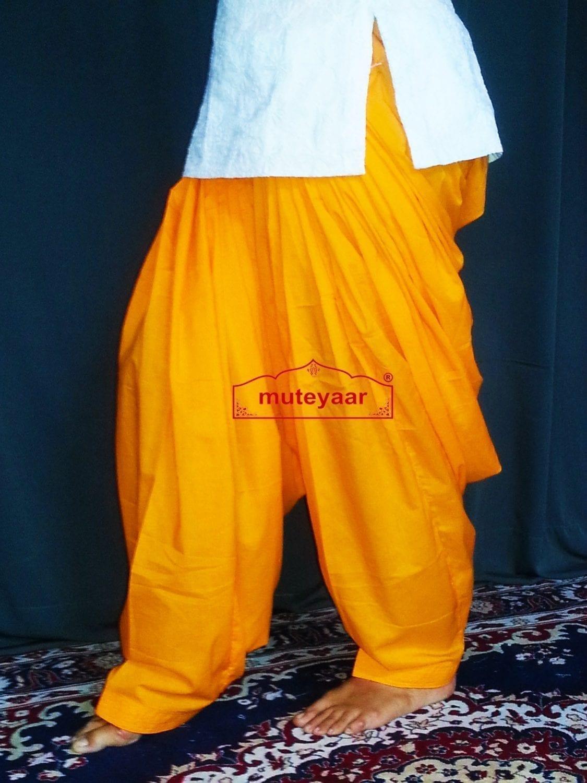 100% PURE COTTON kesri PATIALA SALWAR from Patiyala city !! 2
