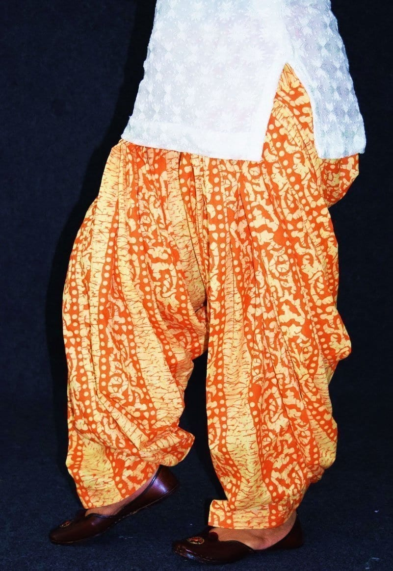 Printed Full Patiala Salwar Limited Edition 100% Pure Cotton Shalwar PPS241 3