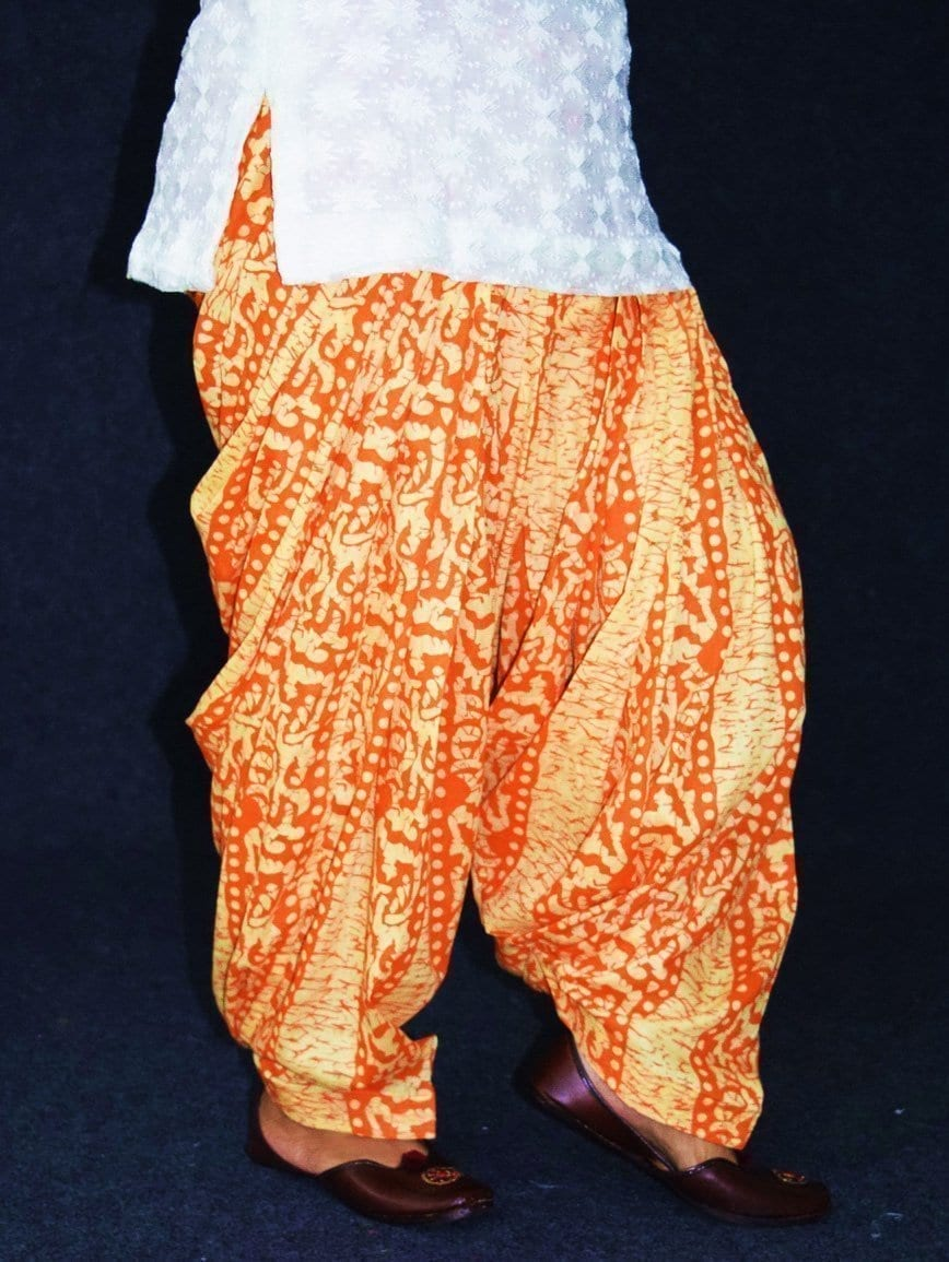 Printed Full Patiala Salwar Limited Edition 100% Pure Cotton Shalwar PPS241 4