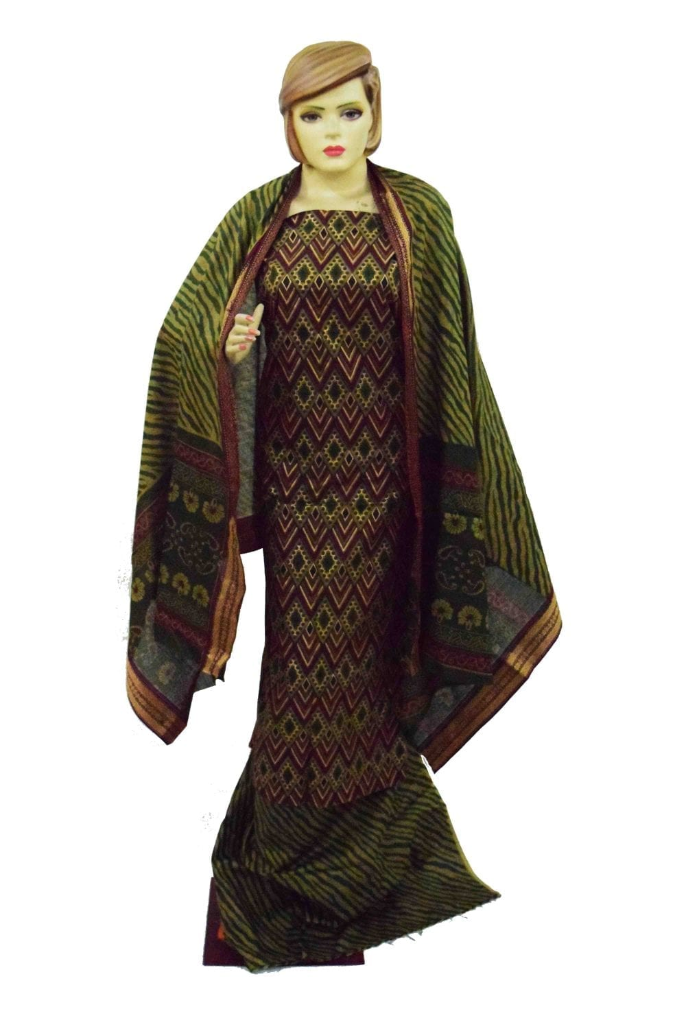 Printed South Cotton Punjabi Suit Printed Cotton Dupatta PS032 1