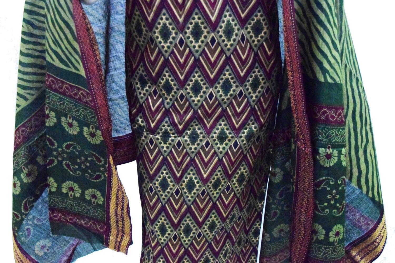 Printed South Cotton Punjabi Suit Printed Cotton Dupatta PS032 3