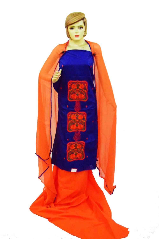 Cotton PATIALA Salwar Kameez Suit PURE CHIFFON Dupatta RM231 1