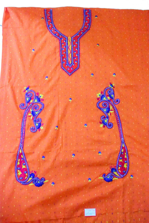 Designer Embroidery 100% cotton Salwar Suit CHIFFON Dupatta RM319 4