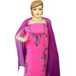 Designer Thread Embroidery 100% cotton Salwar Suit CHIFFON Dupatta RM332