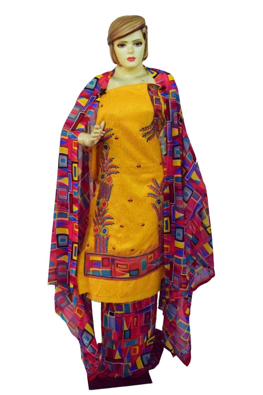 Designer Embroidery Georgette Salwar Dupatta with Cotton Kameez RM338 1