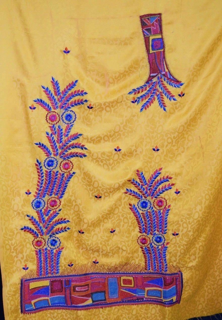 Designer Embroidery Georgette Salwar Dupatta with Cotton Kameez RM338 4