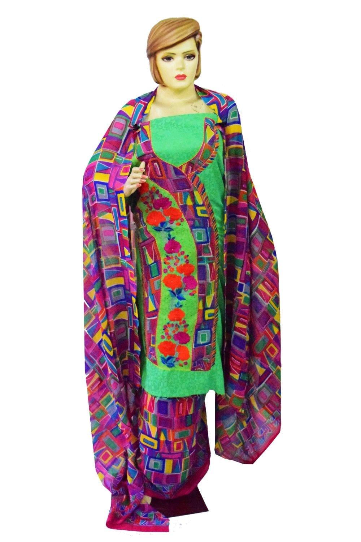 Designer Embroidery Georgette Salwar Dupatta with Cotton Kameez  RM340 1