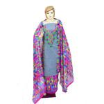 Designer Embroidery Georgette Salwar Dupatta with Cotton Kameez  RM341