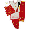 Female Bhangra Costume Dance Dress with Smiley Design Embroidery SMG