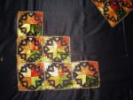 Glazed Cotton Black Phulkari Bed Cover Set Z0030
