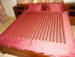 Glazed Cotton Hand Embroidered Phulkari Bedsheet Set Z0033