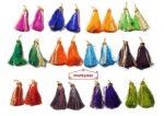 Lotan earrings handicraft jewellery set with 12 pairs of tassle phumans
