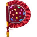 Punjabi Traditional Pakhi Hand Fan size 16 inch length T0234