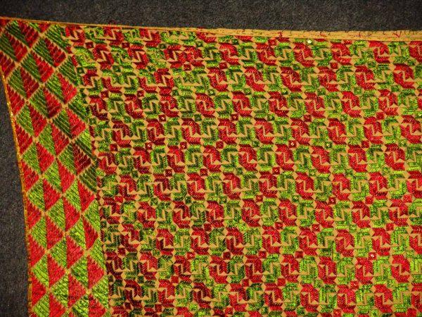 Phulkari Bagh Hand Embroidered multicolor dupatta D0727