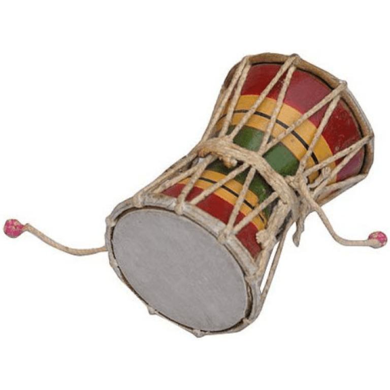 Damru bhangra prop - handmade punjabi musical instrument