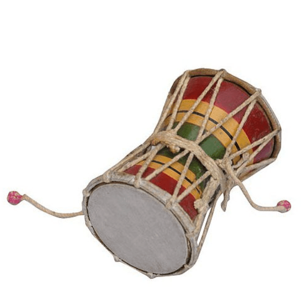 Damru bhangra prop - handmade punjabi musical instrument 1