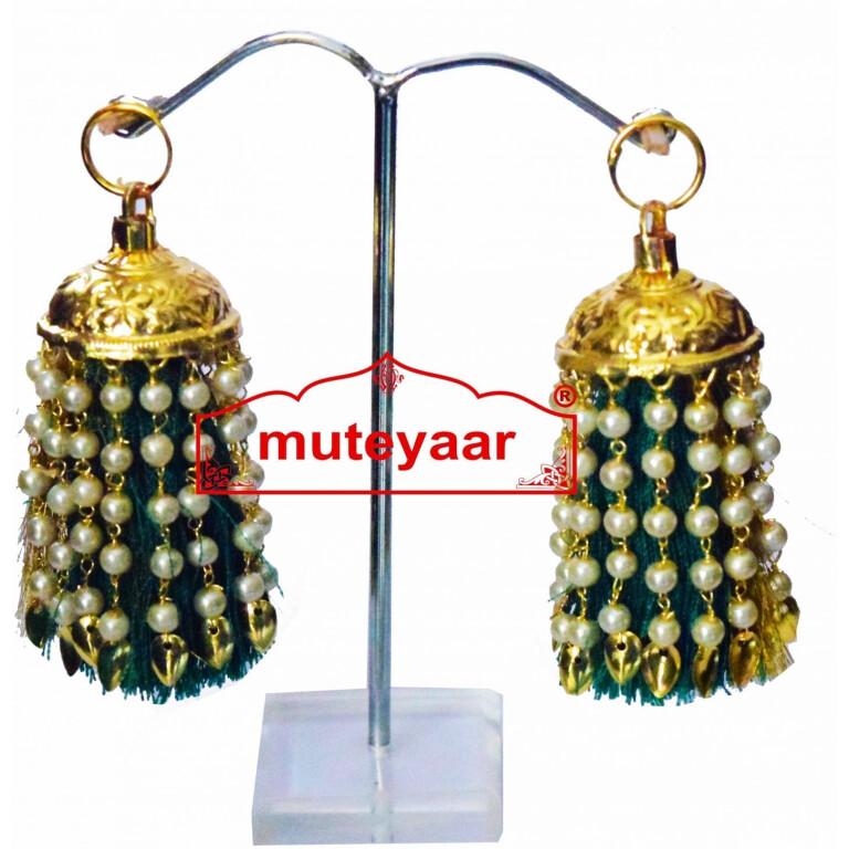 Jhallar Lotan Handicraft Jewelery earring set with Tassle phumans J0464
