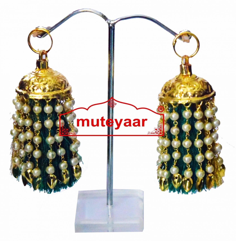 Jhallar Lotan Earring with Tassle phumans - All colours available J0464 1
