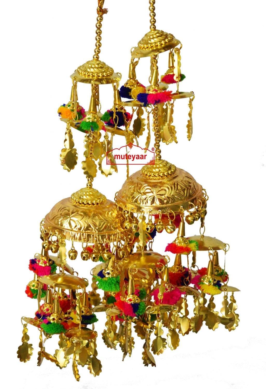 Gold Polished Traditional Punjabi Wedding Fancy Kaleera for Bride J0910 1