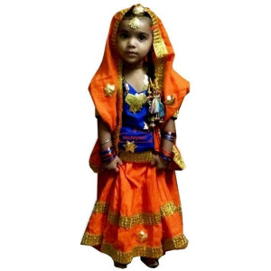Kids Custom made GIDDHA  Costume outfit dance dress Lehenga set