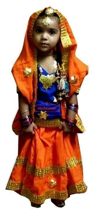 Kids Custom made GIDDHA Costume outfit dance dress Lehenga set 1