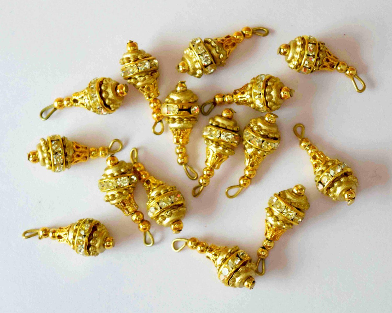 12 Pieces Lot of 1 inch size Zirocn Latkan Dangles LK078 1