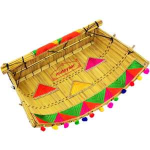Phulkari Chhajj for Punjabi Wedding Giddha Prop