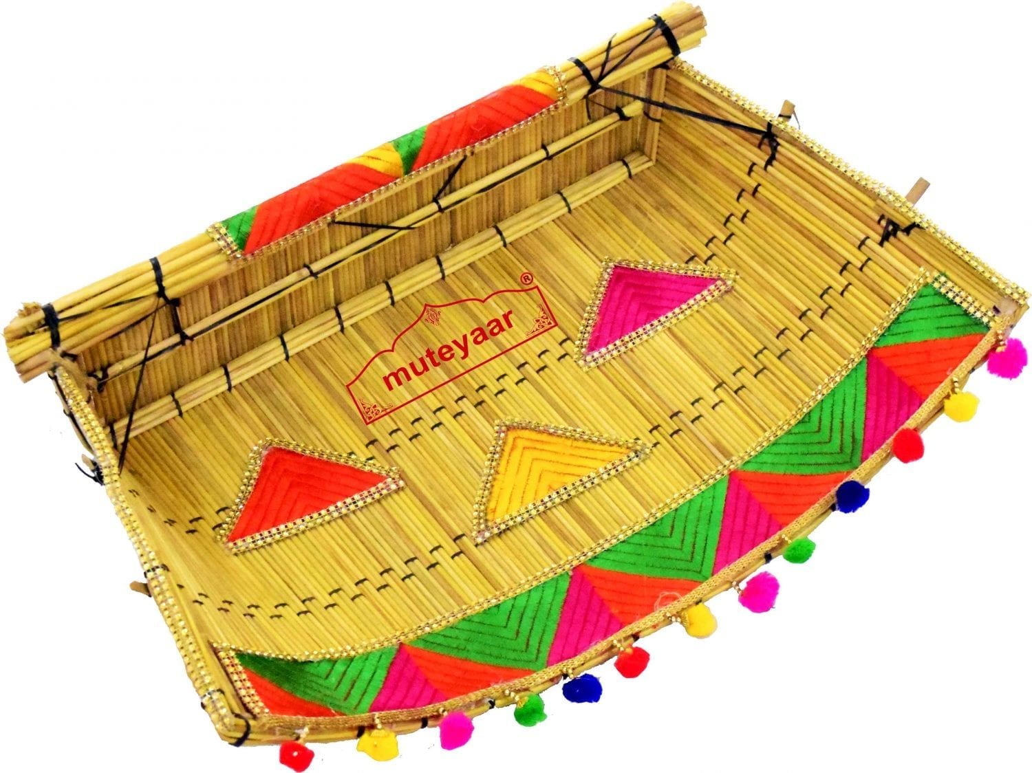Phulkari Chhajj Giddha Prop for Punjabi Wedding Ceremony 1