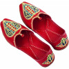 Red Embroidered Groom Punjabi Jutti shoes for MEN - best for wedding