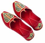 Red Embroidered Groom Punjabi Jutti shoes for MEN – best for wedding