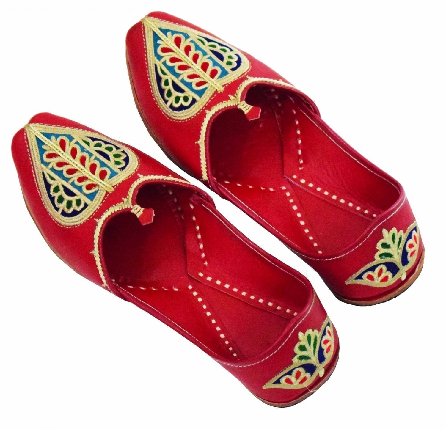 Red Embroidered Groom Punjabi Jutti shoes for MEN - best for wedding 1