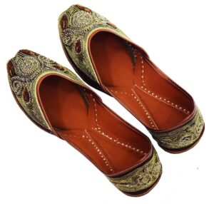 Wedding Punjabi Jutti Dabka Work Marriage Party wear Shoes PJ9800