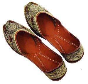 Wedding Punjabi Jutti Dabka Work Marriage Party wear Shoes PJ9800