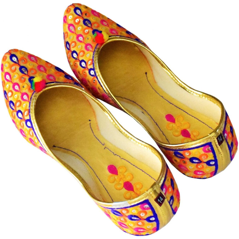 Multicolour Belly Punjabi Jutt Mojari Shoes PJ9829