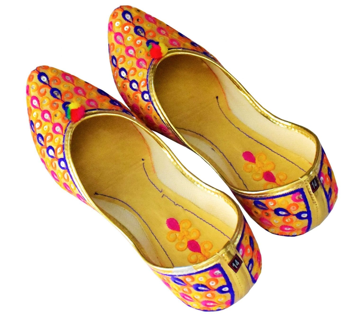 Multicolour Belly Punjabi Jutt Mojari Shoes PJ9829 1