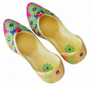 Multicolour Punjabi Jutt Mojari Belly Shoes PJ9832