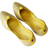 Light Golden Sitare wali Punjabi Jutt Mojari Belly Shoes PJ9834