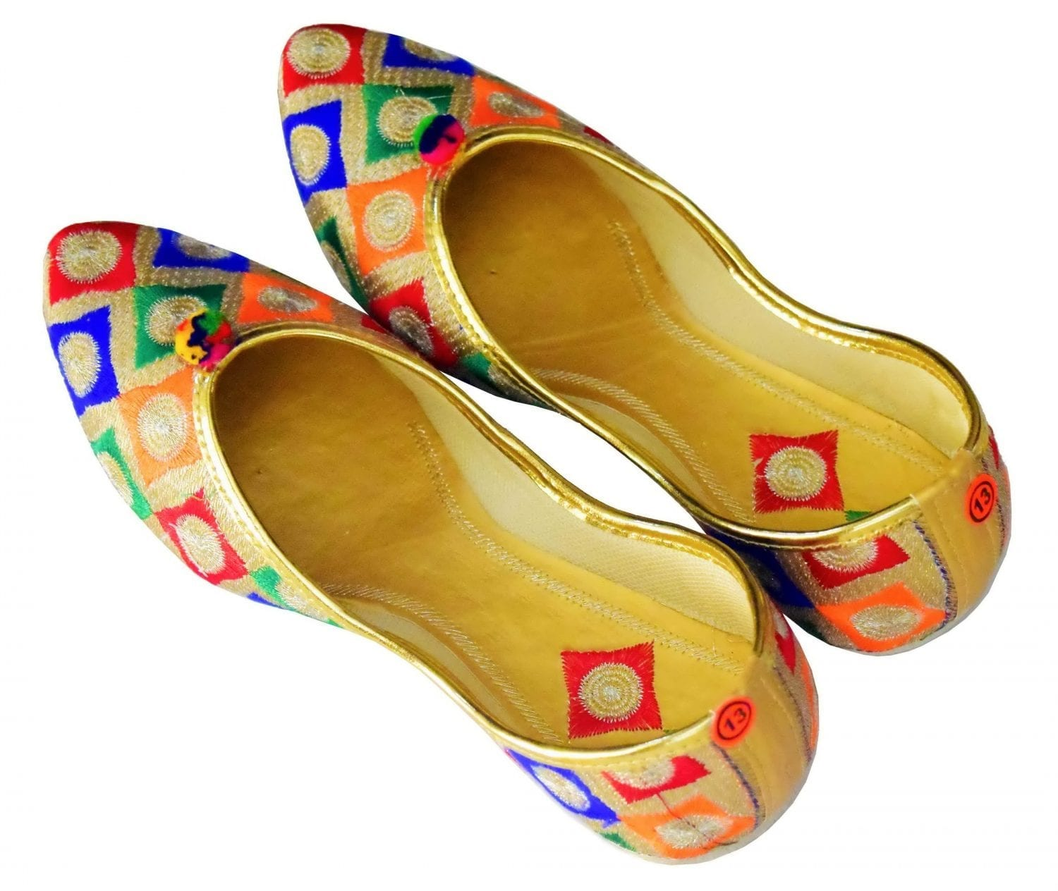 Multicolour Punjabi Jutt Mojari Belly Shoes PJ9837 1
