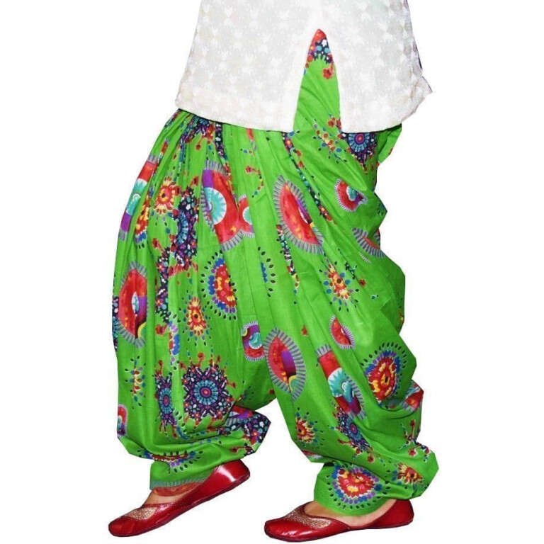 Limited Edition Printed 100%  Pure Cotton Full Patiala Salwar PPS210