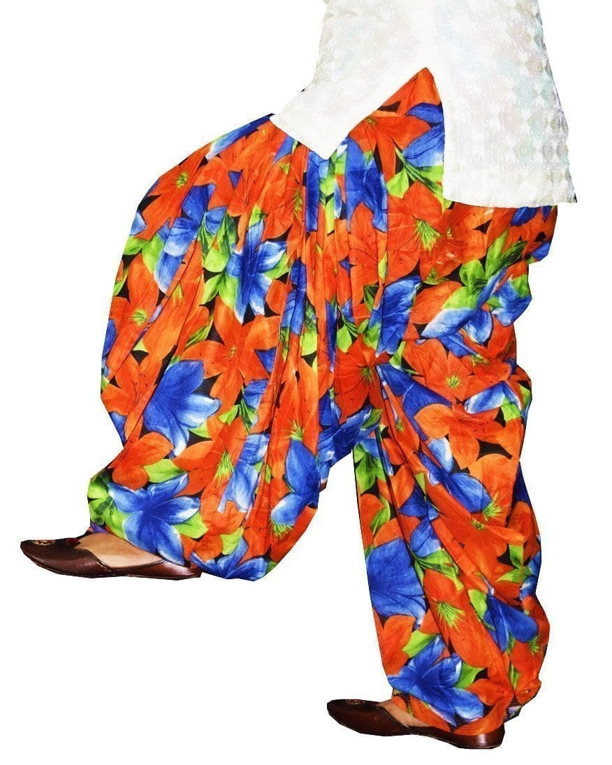 Printed Full Patiala Salwar Limited Edition 100% Pure Cotton Shalwar PPS234 1
