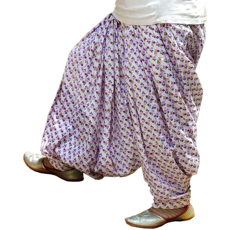 White Printed Full Patiala Salwar Limited Edition 100% Pure Cotton PPS257