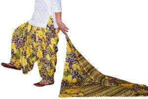 100% Pure Cotton FULL Patiala Salwar + matching cotton printed dupatta PSD176