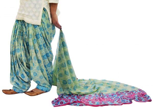 100% Pure Cotton FULL Patiala Salwar + matching cotton printed dupatta PSD182