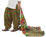 Leheria Print 100% Pure Cotton FULL Patiala Salwar + matching cotton dupatta PSD193