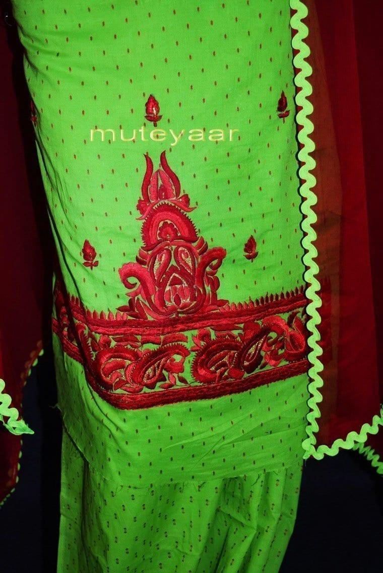 100% Cotton Salwar Suit Designer Embroidery PURE CHIFFON Dupatta RM303 3