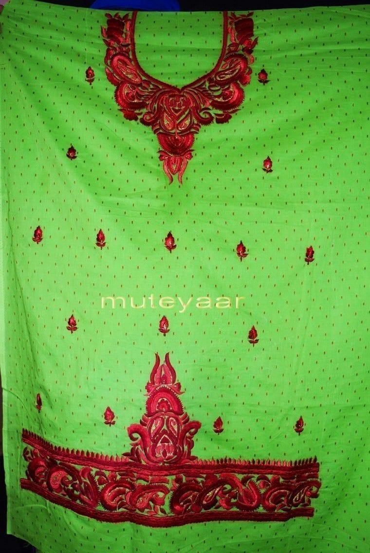 100% Cotton Salwar Suit Designer Embroidery PURE CHIFFON Dupatta RM303 4