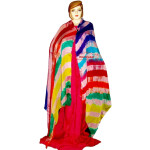 Hand Dyed Leheria Satrangi Dupatta Chunni with 7 colours
