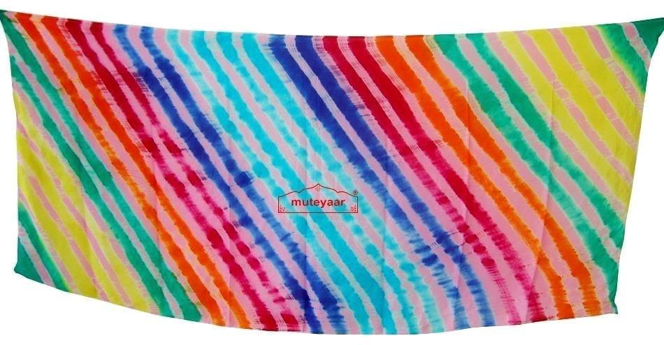 Hand Dyed Leheria Satrangi Dupatta Chunni with 7 colours 2