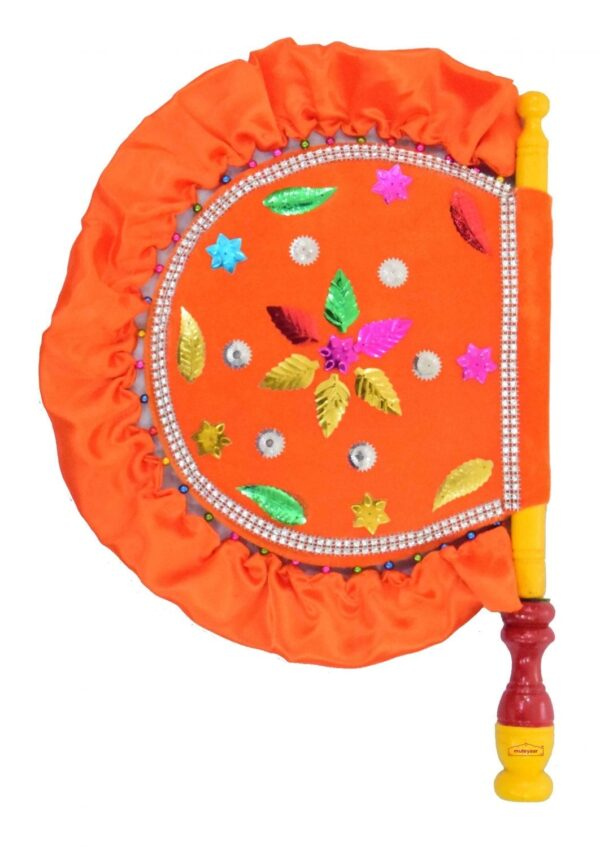 Traditional Punjabi Pakhi Hand Fan size 16 inch length T0231