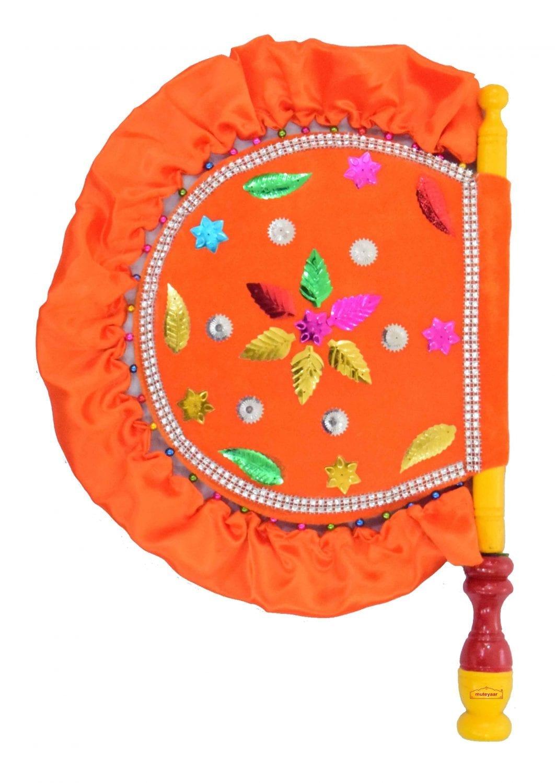 Traditional Punjabi Pakhi Hand Fan size 16 inch length T0231 1